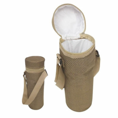 Insulated Bottle Cool Bag With Strap - Picnic Drinks Carrier / Wine Cooler