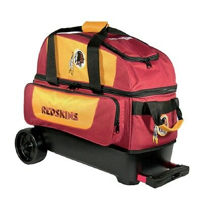 NFL Washington Redskins 2 Ball Roller Bowling Bag with Wheels