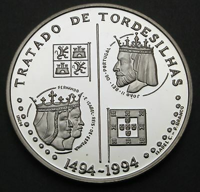 PORTUGAL 200 Escudos ND(1994) Proof - Silver - Treaty of Tordesilhas - 67