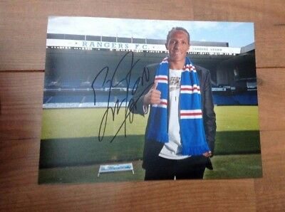 Authentic Bruno Alves Hand Signed 10X8 Glasgow Rangers Portugal photo