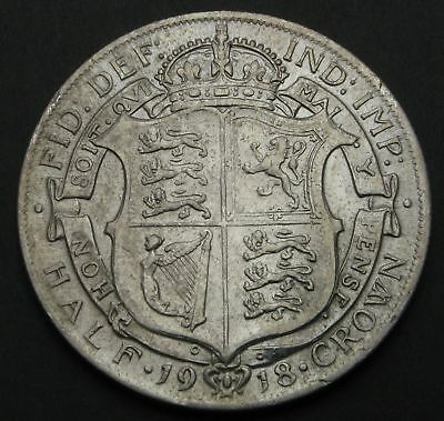 GREAT BRITAIN 1/2 Crown 1918 - Silver - George V. - VF - 102
