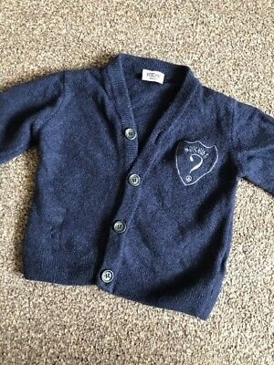 Authentic Moschino Baby Boys Cardigan Navy 9-12 Months