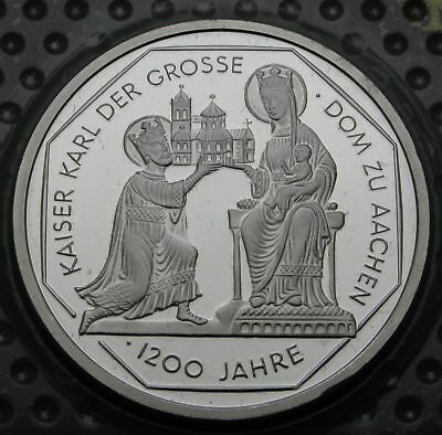 GERMANY 10 Mark 2000 A Proof - Silver - Founding of the Church in Aachen