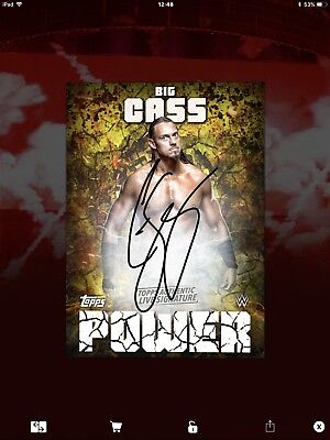 Topps WWE Slam Digital,  Signature,  Big Cass