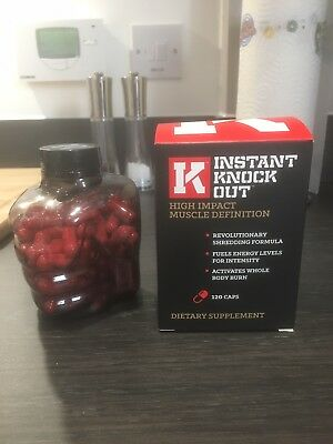 Instant Knockout Fat Burner - Used (approximately 100 caps remain)