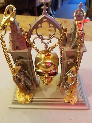 The Franklin Mint Hour of Destiny Watch Skull byBROM accented w24k Gold & Silver