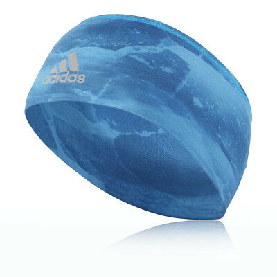 adidas Mens Wide Graphic Headband Headwear Sports Training Casual Blue
