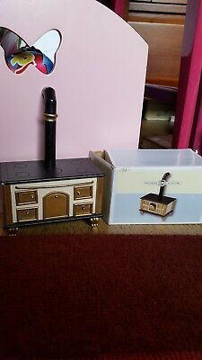 1:12th wood burning stove with chimney piece
