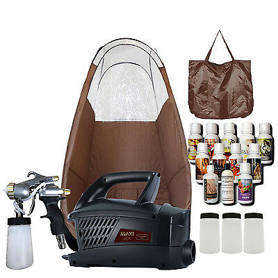 MAXIMIST EVOLUTION PRO MOBILE HVLP SPRAY TAN UNIT w BROWN TENT, TBT TAN SPRAY