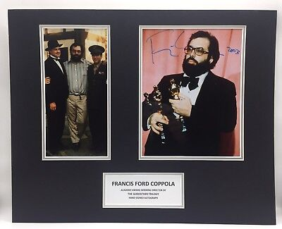 RARE Francis Ford Coppola Godfather Signed Photo Display + COA AUTOGRAPH