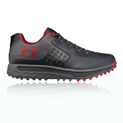 Under Armour Mens Horizon STC Trail Running Sports Shoes Trainers Black Grey Red