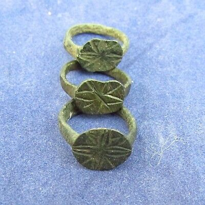 Lot Viking - Kids Bronze Finger Rings  9-10th AD (251+)