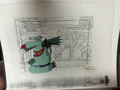 Ahh! Real Monsters Animation Art Cel of The Gromble with COA