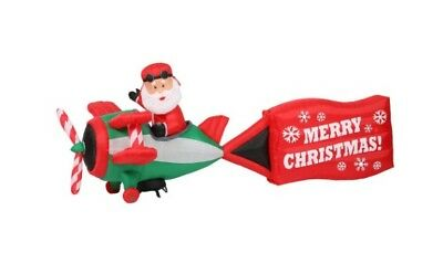 19 ft. Inflatable Airblown Santa on Airplane