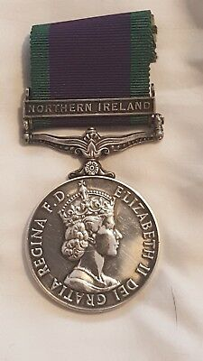 G S M  N.I. full size  medal in silver