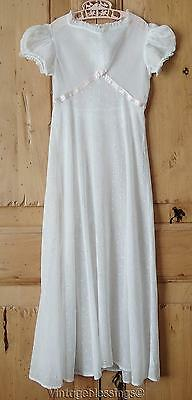 Very Pretty Sheer Eyelet ANTIQUE c1930s Girls' Dress Size 8? Vintage Photography