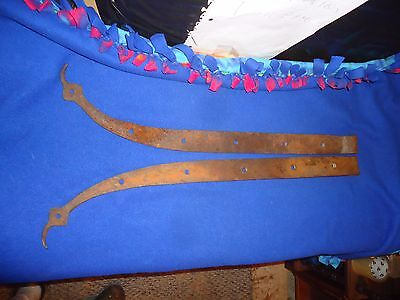 Antique Wrought Iron Unique Strap Hinge,heavy Hand Forged,old Barn Hinge Farm