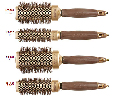 4x Olivia Garden Nano Thermic Ceramic Ion Shaper Hair Brushes 1,11/8, 11/2, 2""