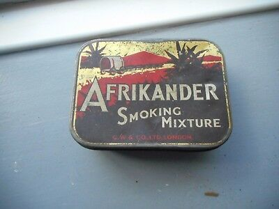 Old Tin Africander Smoking Mixture Tobacco CW & Co London see others similar