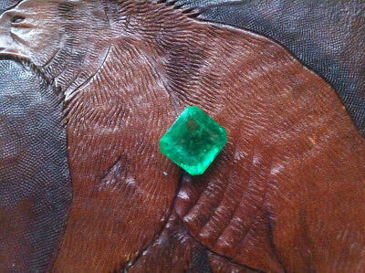 Lab. Emerald - 10,45 carat - Octagon cut - Ready for setting