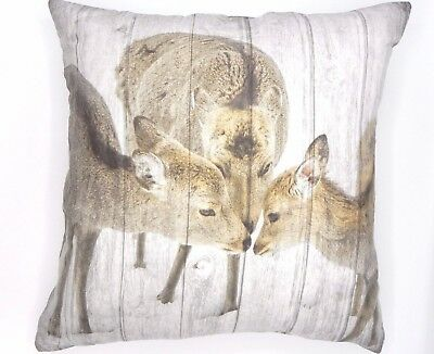 CUTE&CUDDLY SUPER SOFT STAG FAMILY  CUSHION COVERS IN FAUX SUEDE 45X45cms