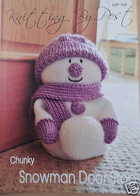 Snowman Door Stop For Christmas Knitting Pattern Instructions To Make Yourself