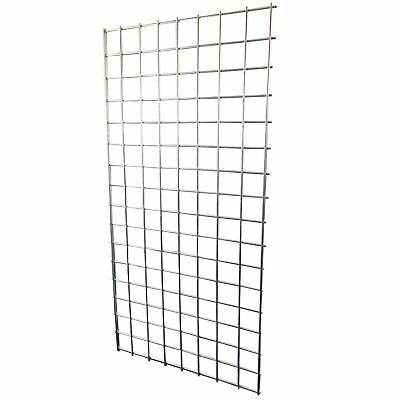 4FT x 2FT HEAVY DUTY GRID WALL/GRIDWALL MESH STEEL DISPLAY PANEL SHOP RETAIL