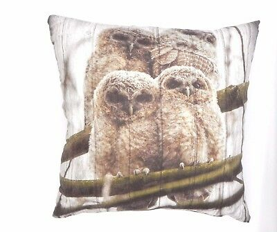 CUTE&CUDDLY SUPER SOFT OWL FAMILY CUSHION COVERS IN FAUX SUEDE 45X45cms