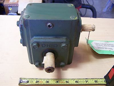 Ohio Gear B2175 Right Angle Worm Gear Speed Reducer Gearbox 20:1 Ratio .70 HP