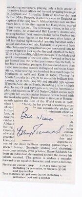 Barry Richards - South African test match player