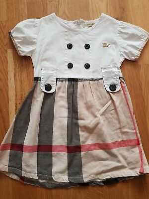 Girl burberry dress 1-2years
