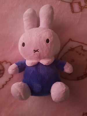 """MIFFY CLASSIC SUPER SOFT PLUSH TOY - BEAN TOY BLUE - BABY GIFT 14cm 5.5"""" BNWT"""
