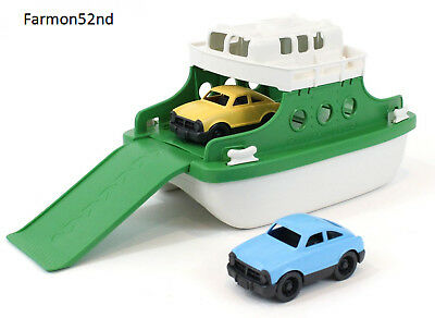 "Ferry Boat Bathtub Toy Green/White 10"" X6.6"" x6.3"""