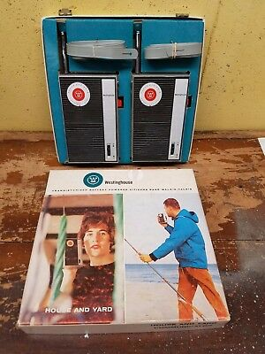 Westinghouse House and Yard Communicator Pair of Walkie Talkies C 1970 w/ Box