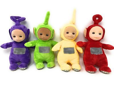 Teletubbies SET OF 4 Official TALKING Soft Toys DIPSY, Tinky, LAA LAA, Po REFURB