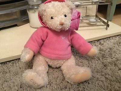 BNWT Macy's New York Bear With Pink Hoodie For Breast Cancer Awareness