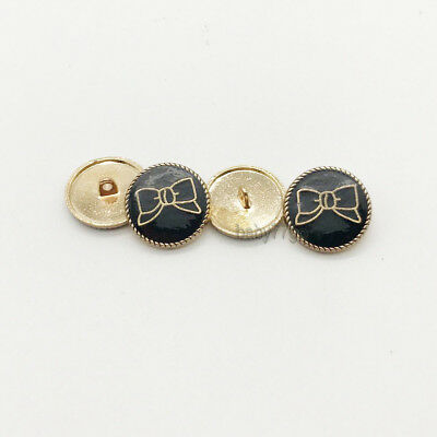 10pcs Vintage Bow Metal Button Bowknot Shank Buttons Sewing Embellishment DIY