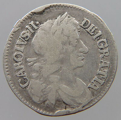 GREAT BRITAIN 4 PENCE 1679  #t18 525