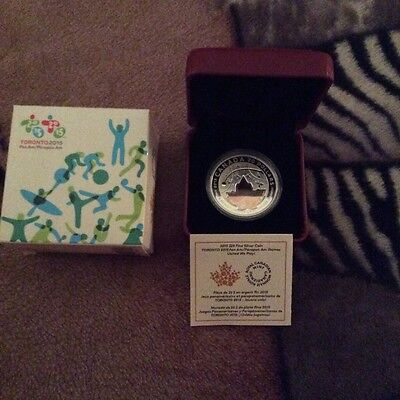 2015 $20 Pan Am/Parapan Am Games In the Spirit of Sports DC (Proof) Silver...