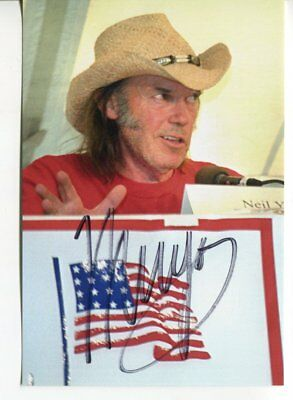 NEIL YOUNG autograph HAND SIGNED 5765