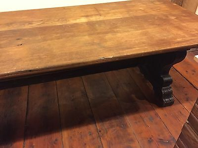 "Magnificent Antique Oak Harvard University Trestle Table- 132"" x 42"" x 30"""