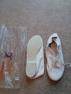 New tappers and pointers white jazz dance shoes adult uk 8