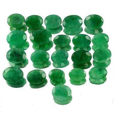 55.00 CT/21 Pcs NATURAL COLOMBIAN EMERALD OVAL FACETED CUT GEMSTONES LOT