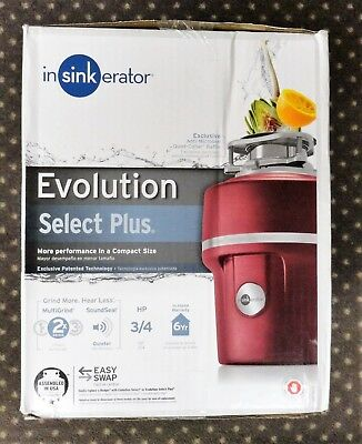 Brand New In The Box Insinkerator Evolution Select Plus 3/4 HP Garbage Disposal