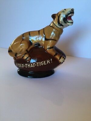 Vintage Rare Old Sippin Whiskey Hold that Tiger Decanter Bourbon Double Springs