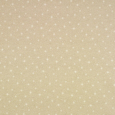 Beige and White Star Christmas Oilcloth Wipeclean Tablecloth Festive Xmas Design