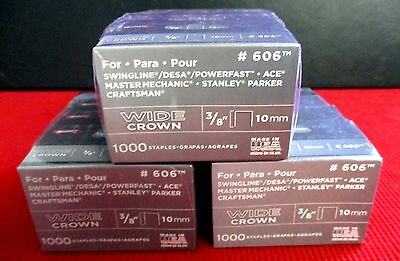 """Arrow 606 Fastener 3/8"""" Wide Crown Heavy Duty Staples 2000 Count FREE SHIPPING"""