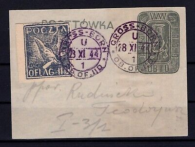 P42443/ Pologne Poland – 1944 Oflag Seal On Paper – Signed Krawczyk - Scarce