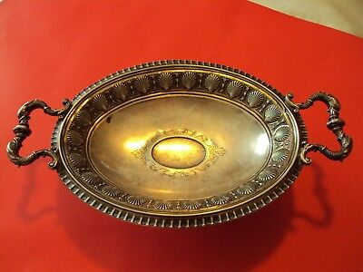 Vintage European  Sterling 800 Silver Dolphin And Scallop Compote