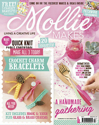 Mollie Makes Magazine Issue 57 With Free Gift (new)